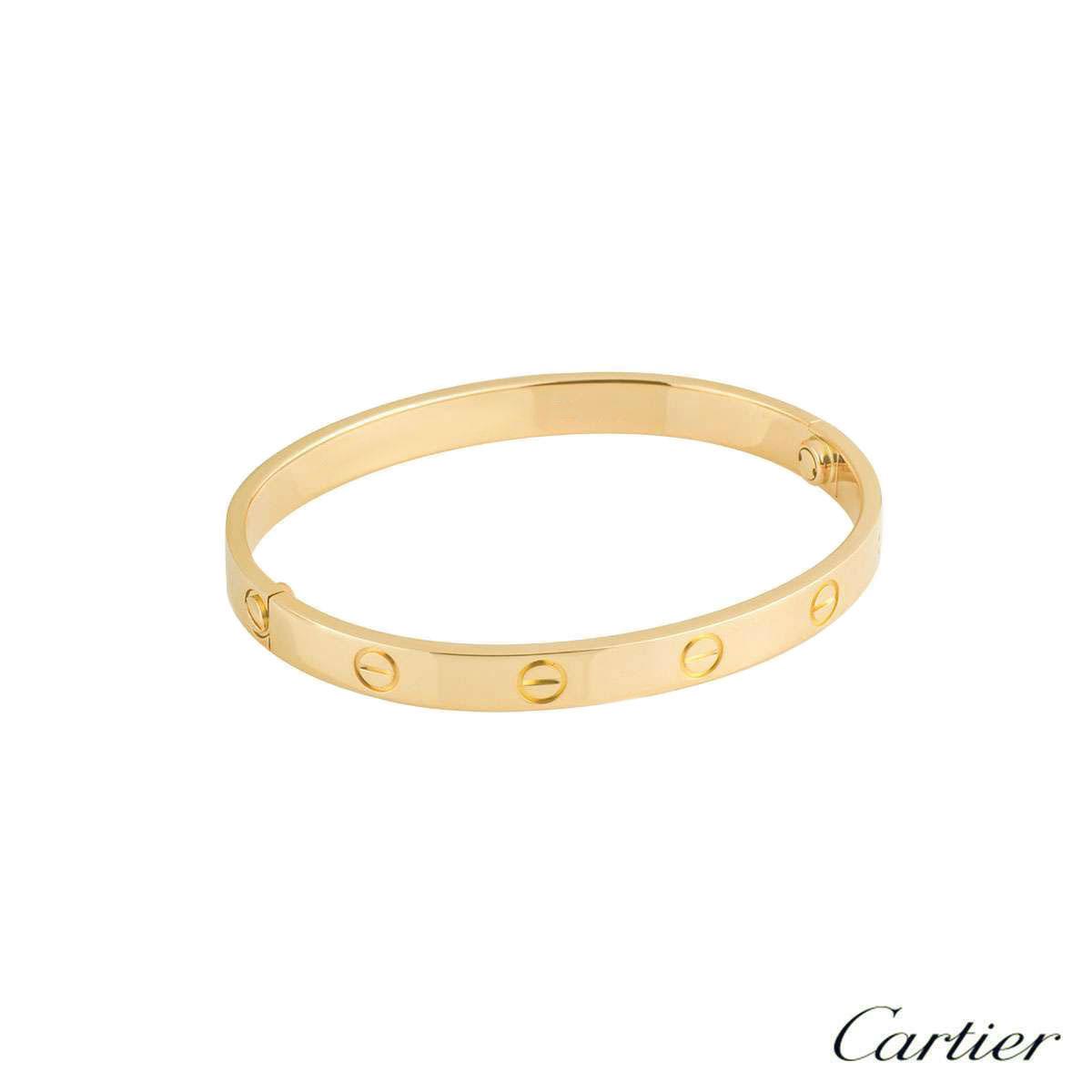 Cartier Yellow Gold Plain Love Bracelet Size 19 B6035519